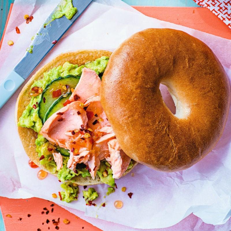 Photo of Salmon & avocado bagel by WW