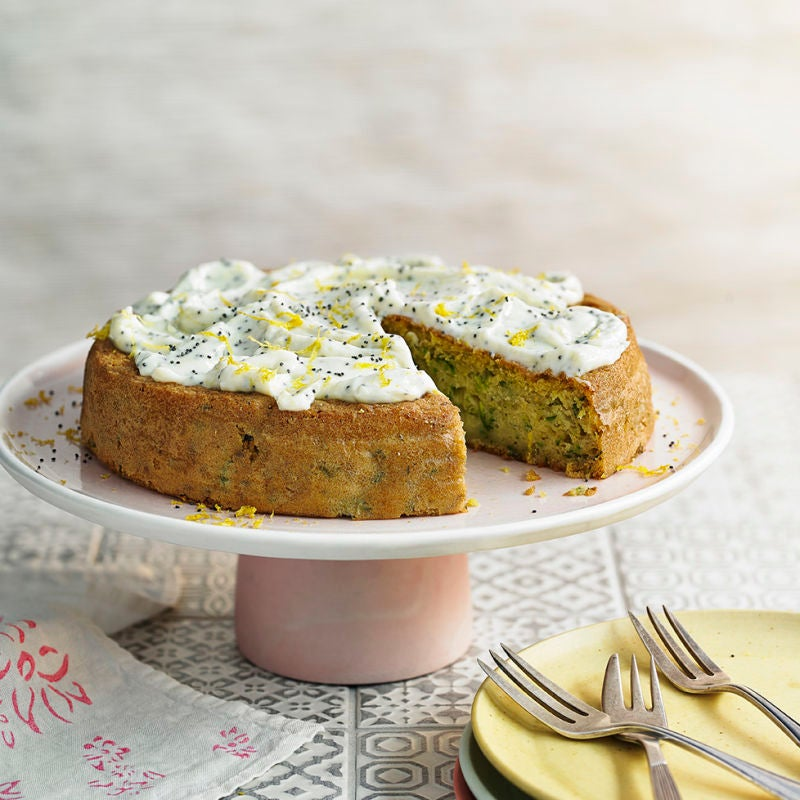 Photo of Courgette cake with lemon & poppy seed frosting by WW