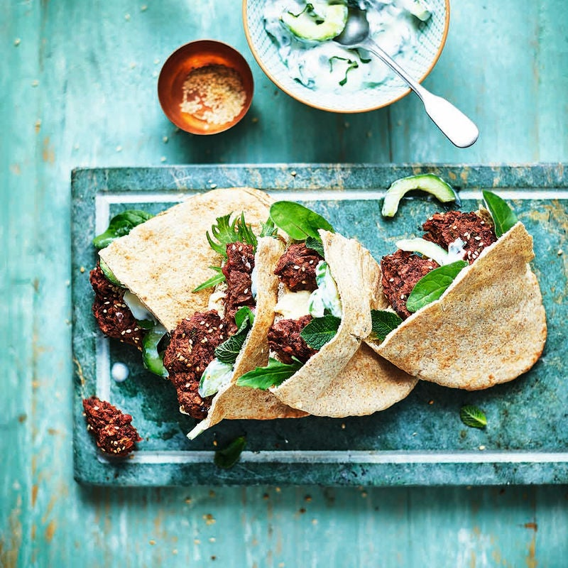 Photo of Beetroot falafel pittas by WW