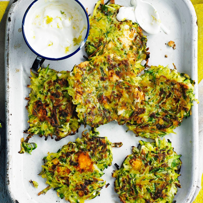 Photo of Courgette & feta fritters by WW