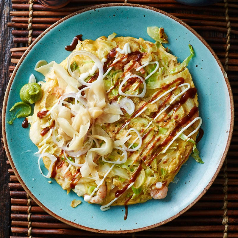 Photo of Japanese prawn & cabbage pancakes by WW