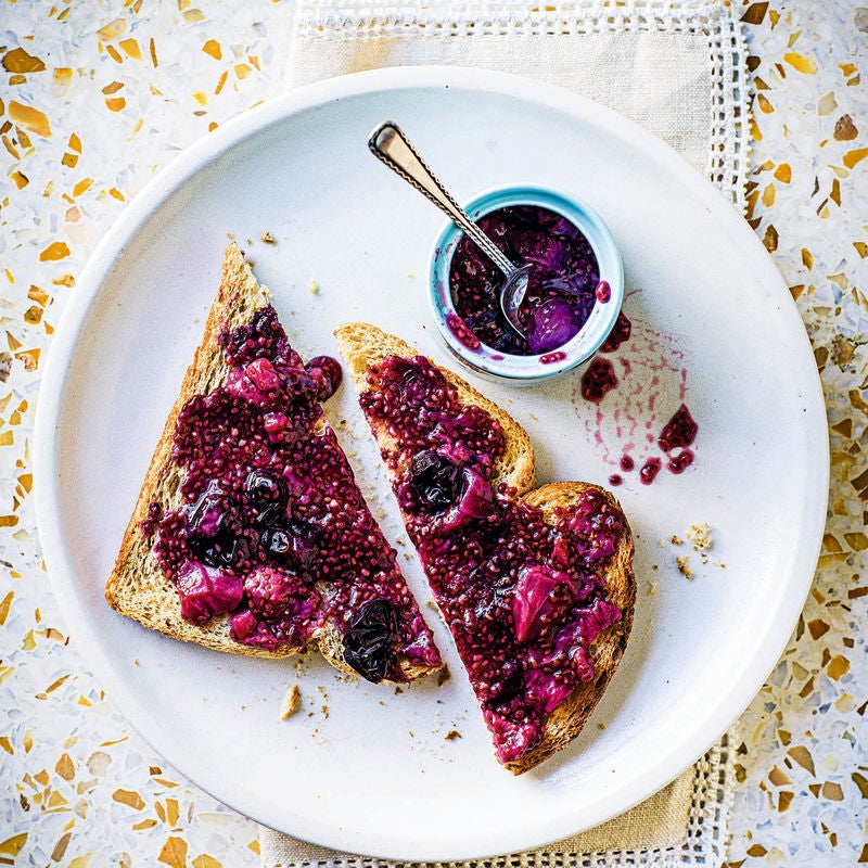 Photo of Double berry jam on toast by WW