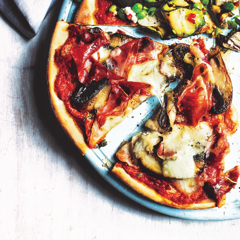 Photo of Prosciutto & garlic-roasted mushrooms pizza topping by WW