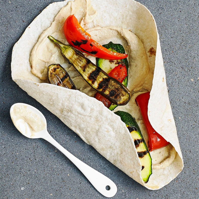 Photo of Houmous & griddled veg wrap by WW