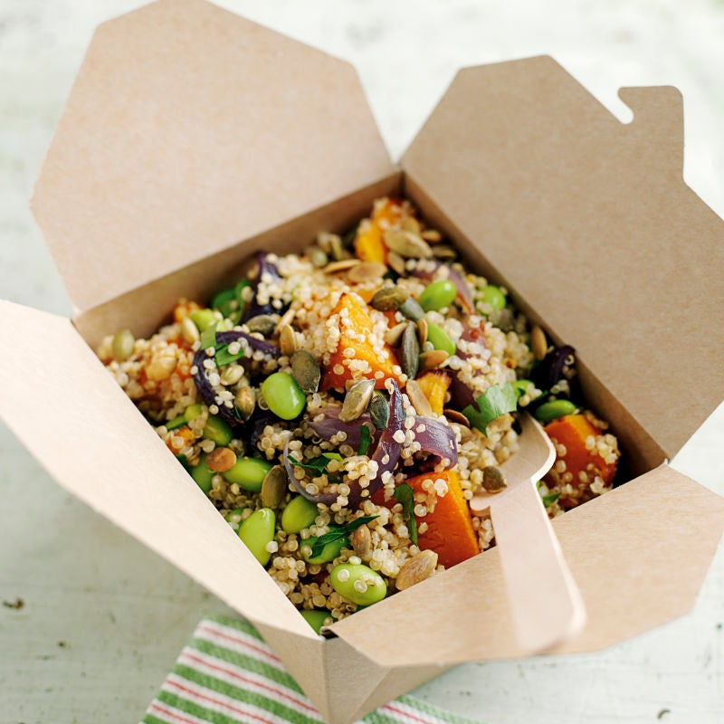 Photo of Quinoa, squash and soya bean salad by WW