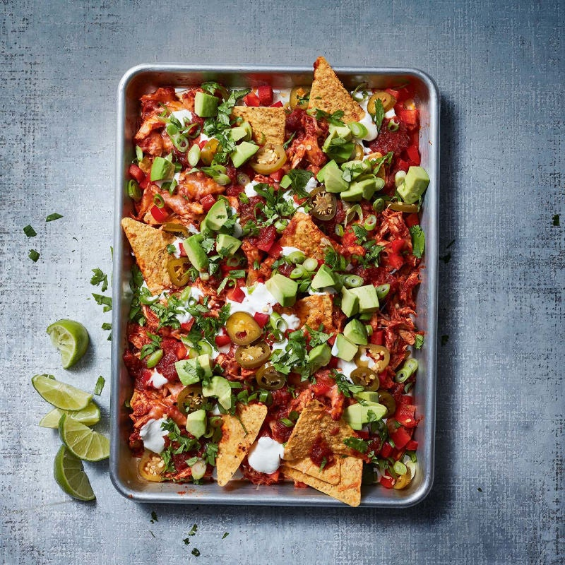 Photo of Spicy chicken nachos with avocado & lime cream by WW