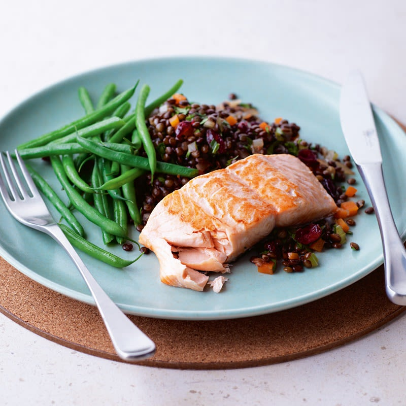 Photo of Seared salmon on warm Puy lentil salad by WW