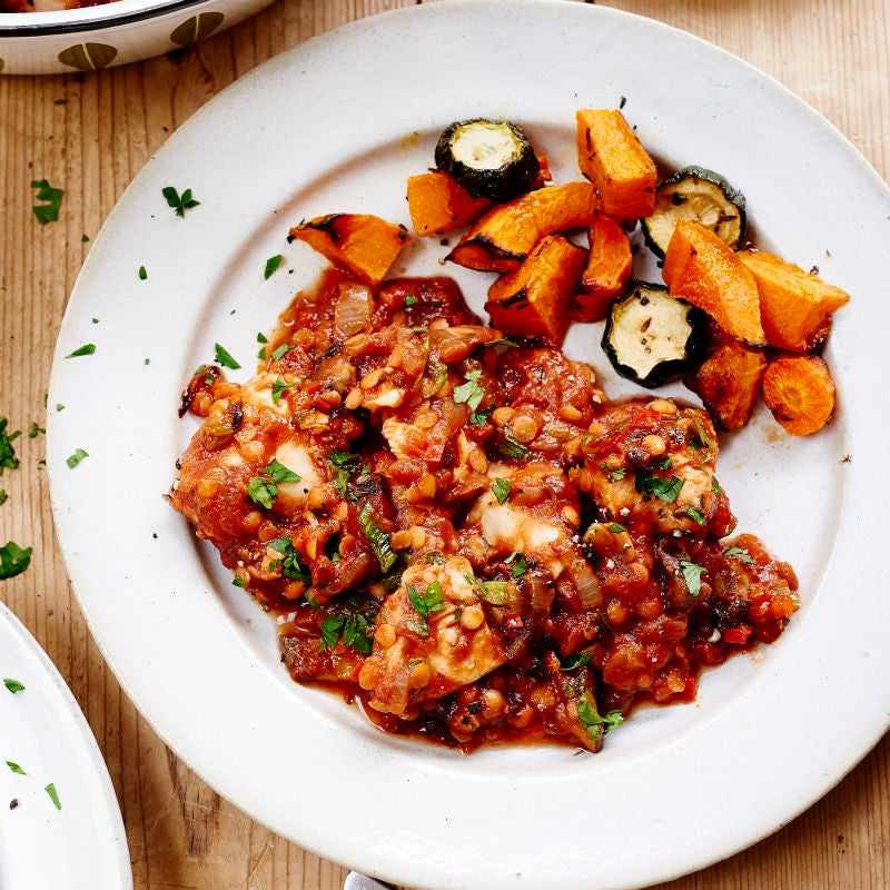 Photo of Paprika chicken with lentils by WW