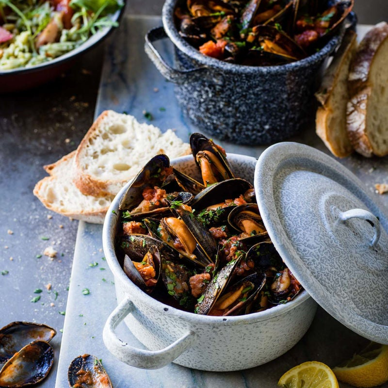 Photo of Spanish-style mussels by WW