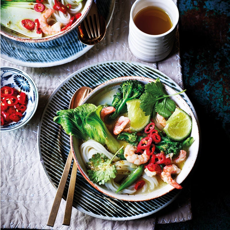 Photo of Thai prawn curry with noodles by WW