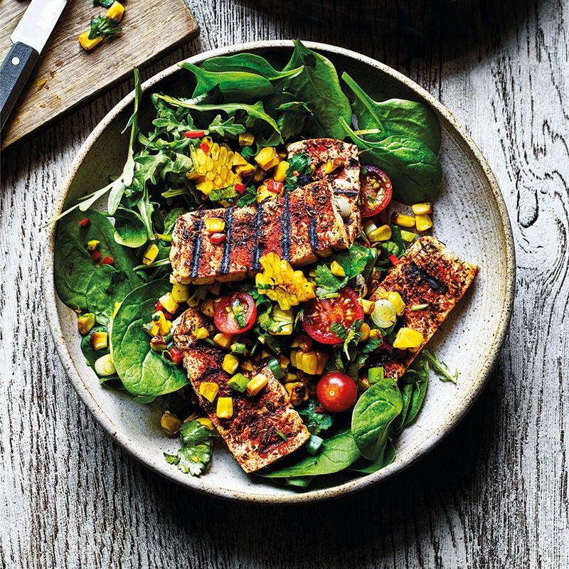 Photo of Cajun-style tofu with corn salsa & crispy salad by WW