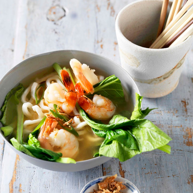 Photo of Prawn & miso noodle soup by WW