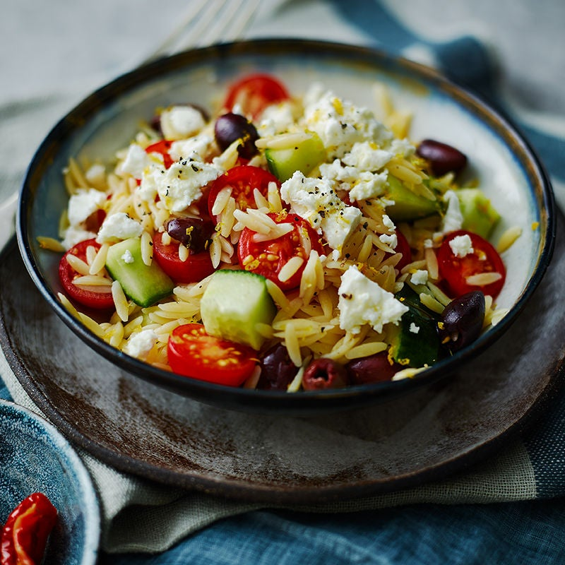 Photo of Greek-style orzo salad by WW