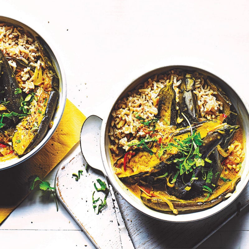 Photo of Aubergine & coconut curry by WW