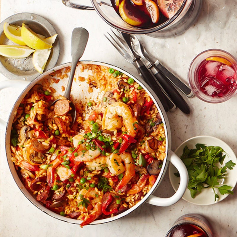 Photo of Prawns, chicken & chorizo paella by WW