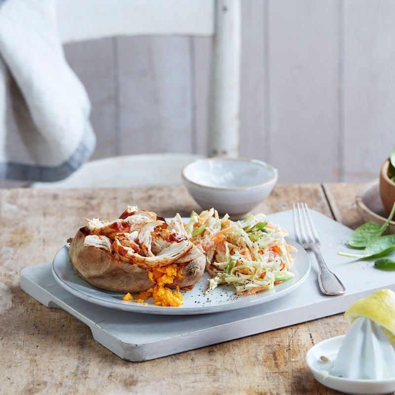Photo of Sweet potato with barbecue chicken & slaw by WW