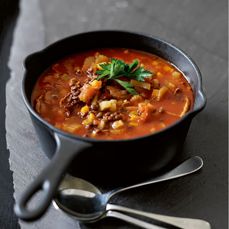 Photo of Curried vegetable & lentil soup by WW