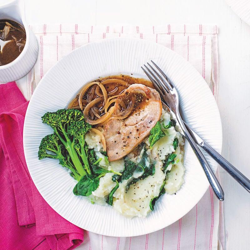 Photo of Pork with celeriac mash & onion gravy by WW