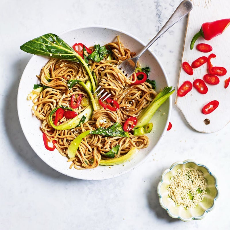 Photo of Sesame & ginger noodles with pak choi by WW