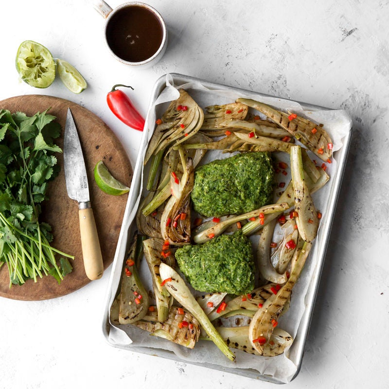 Photo of Baked Thai cod with grilled fennel by WW