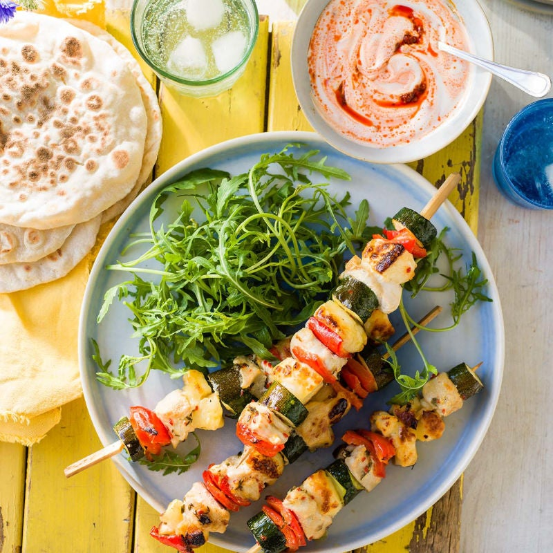 Photo of Chicken & halloumi skewers by WW