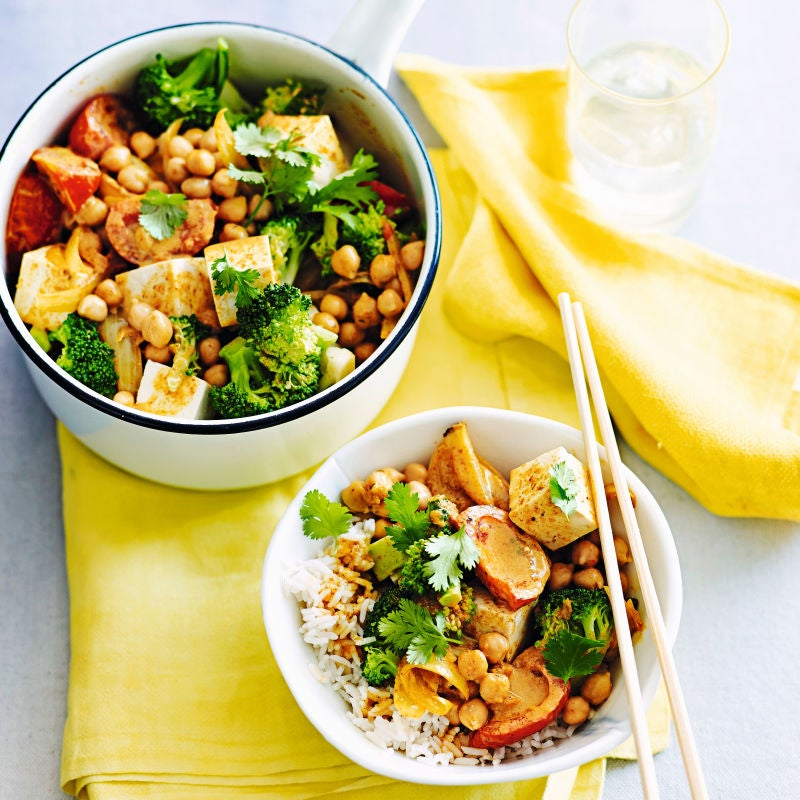 Photo of Broccoli, chickpea & tofu curry by WW