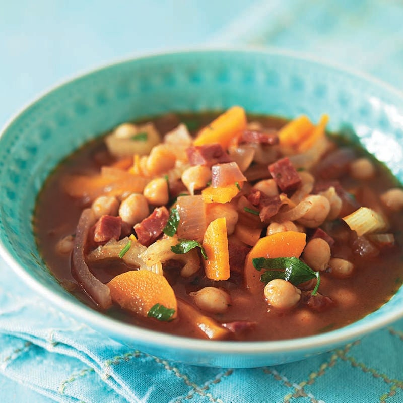 Photo of Chunky chickpea & chorizo soup by WW