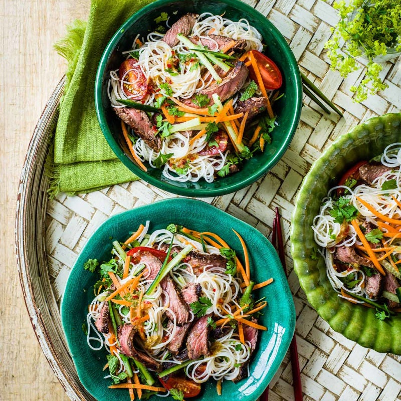 Photo of Vietnamese beef noodle salad by WW