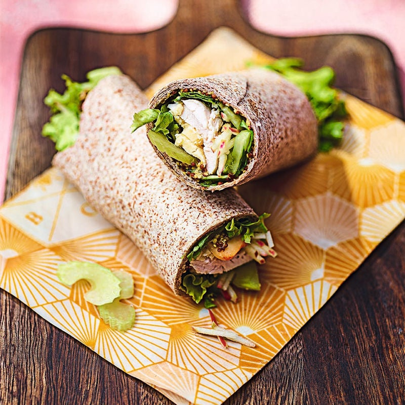 Photo of Turkey, apple & smoked Cheddar wraps by WW