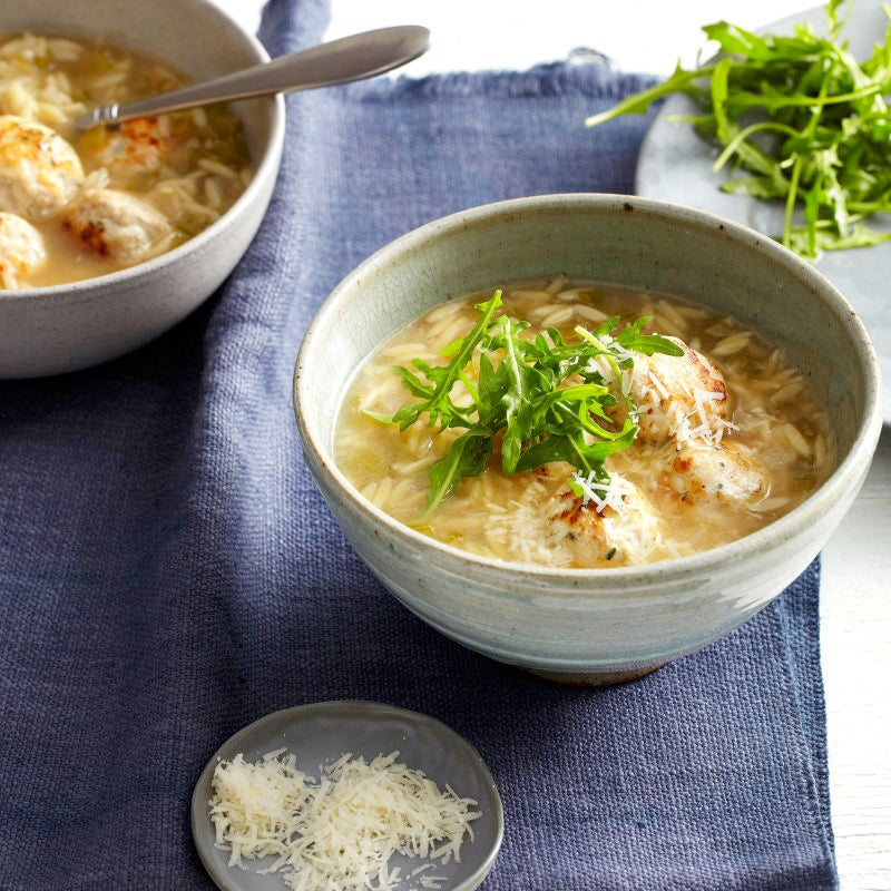 Photo of Rosemary turkey meatball soup by WW