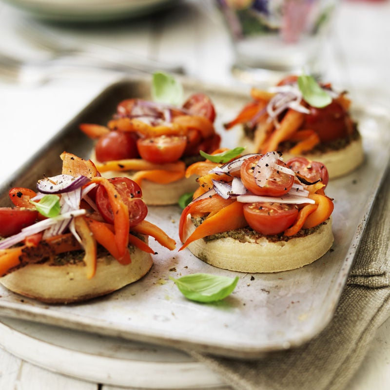Photo of Roasted pepper crumpet pizzas by WW