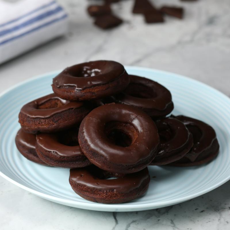 Photo of Glazed chocolate doughnuts by WW