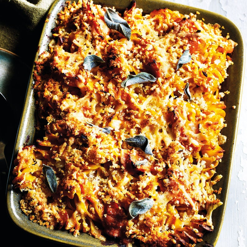 Photo of Cheesy pasta bake with butternut squash & sage by WW