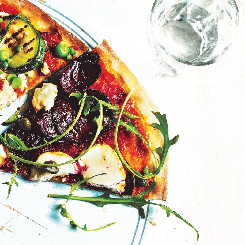 Photo of Beetroot, goat's cheese & rocket pizza topping by WW