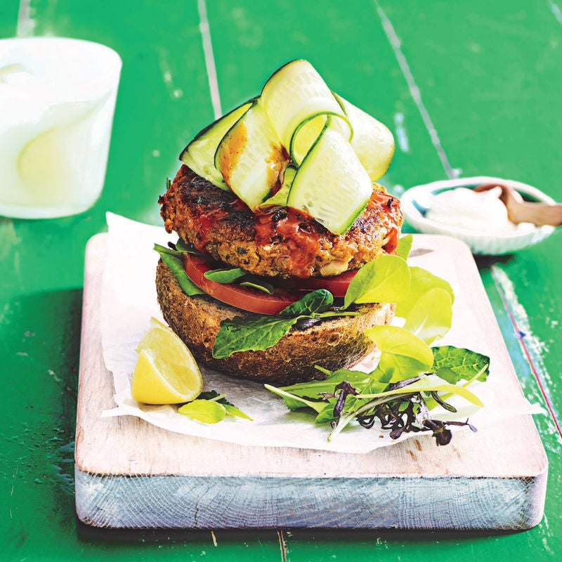 Photo of Roasted sweet potato & bean burgers by WW