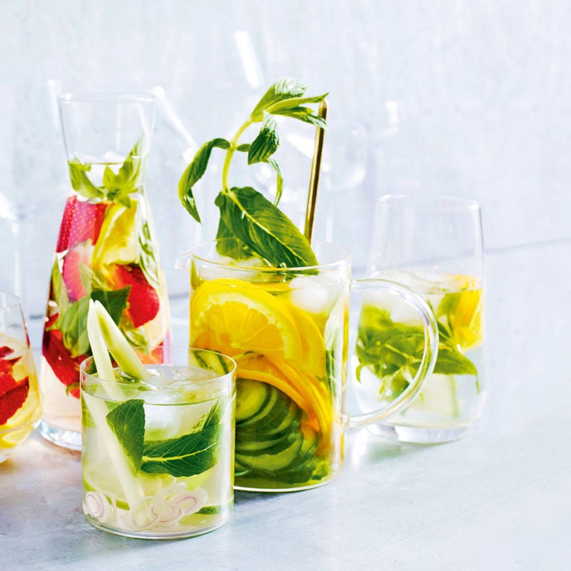 Photo of Cucumber, orange & mint water by WW