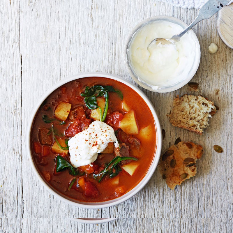 Photo of Beef & paprika soup with soured cream by WW