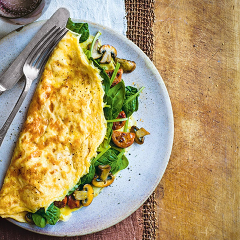 Photo of Chorizo, mushroom & spinach omelette by WW