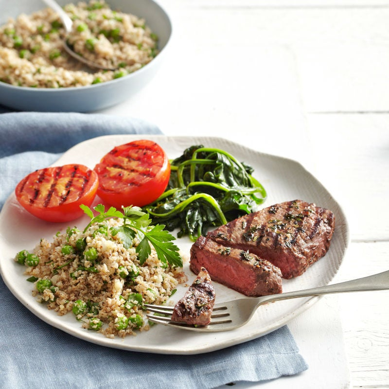 Photo of Grilled steaks with cauliflower rice by WW