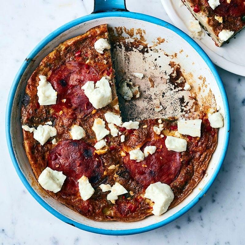 Photo of Chorizo & feta frittata by WW