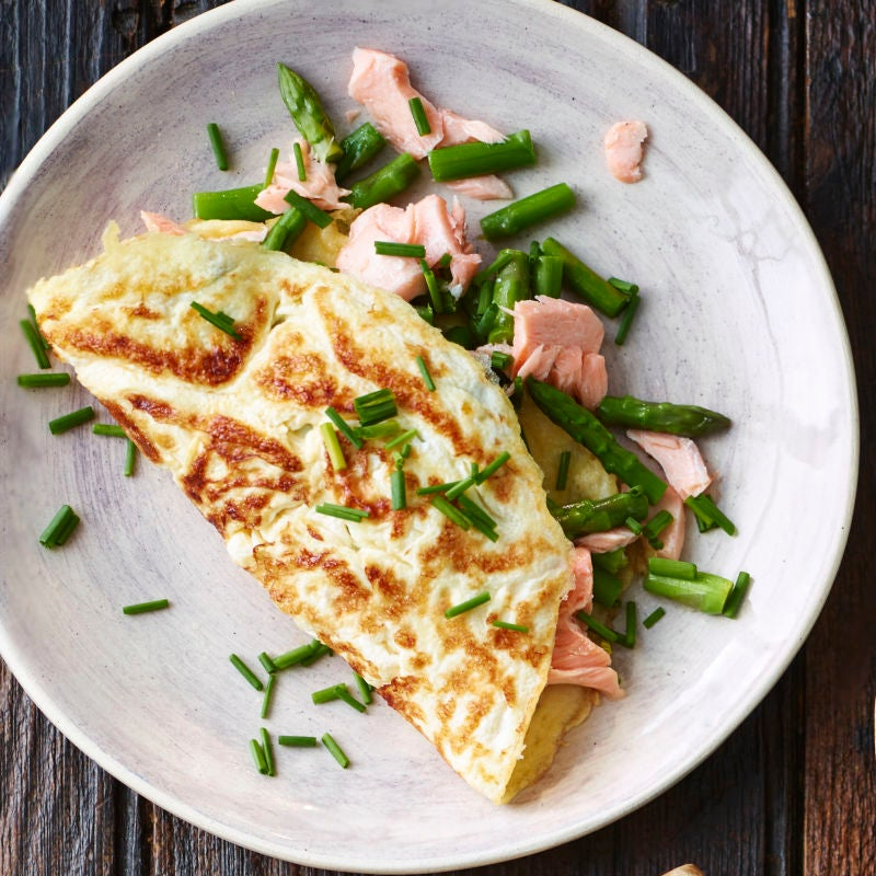 Photo of Salmon & asparagus omelette by WW