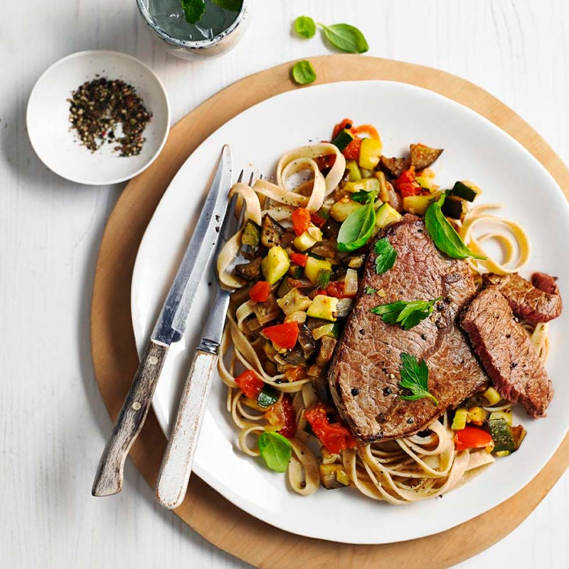 Photo of Italian-style steak & vegetable tagliatelle by WW