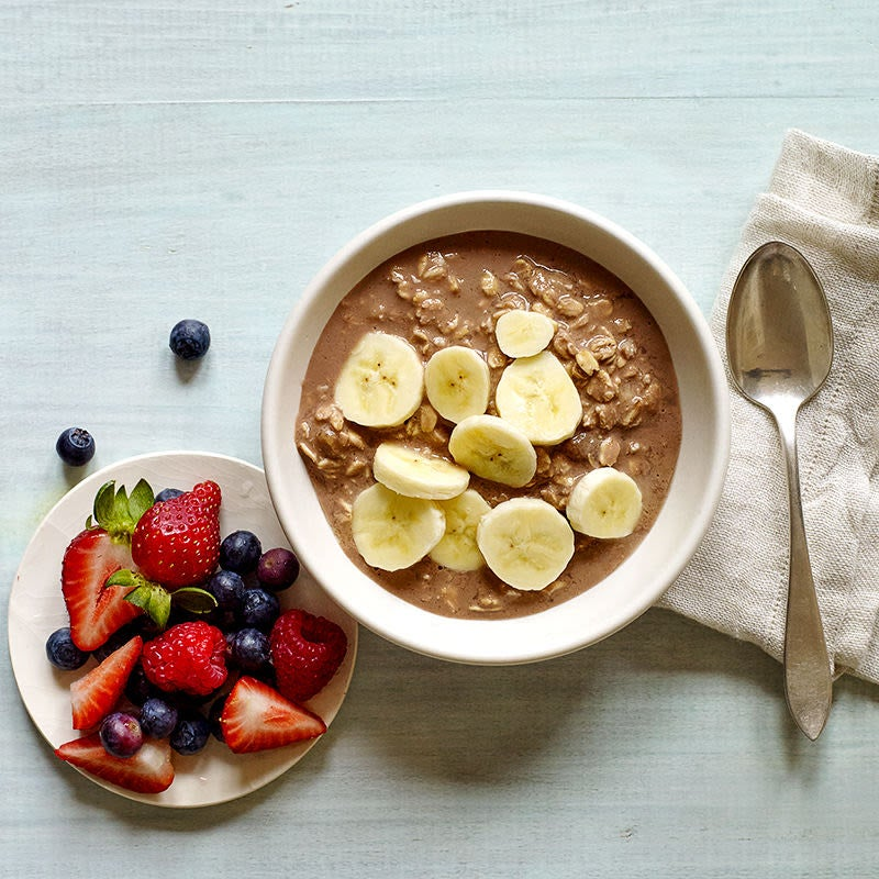 Photo of Chocolate peanut butter & banana overnight oats by WW