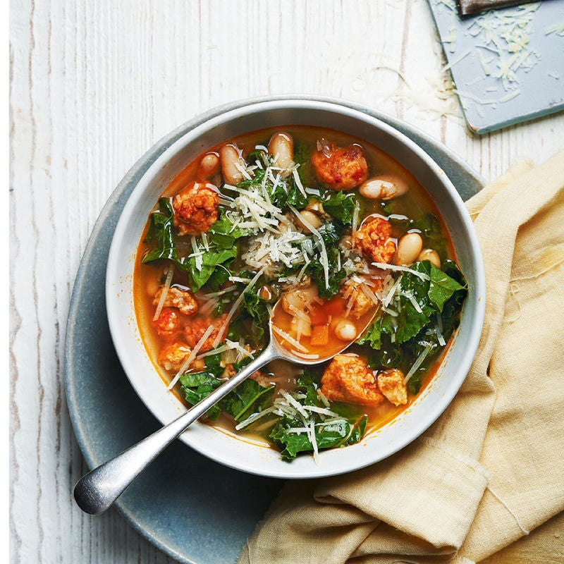Photo of Italian-style sausage & kale soup by WW
