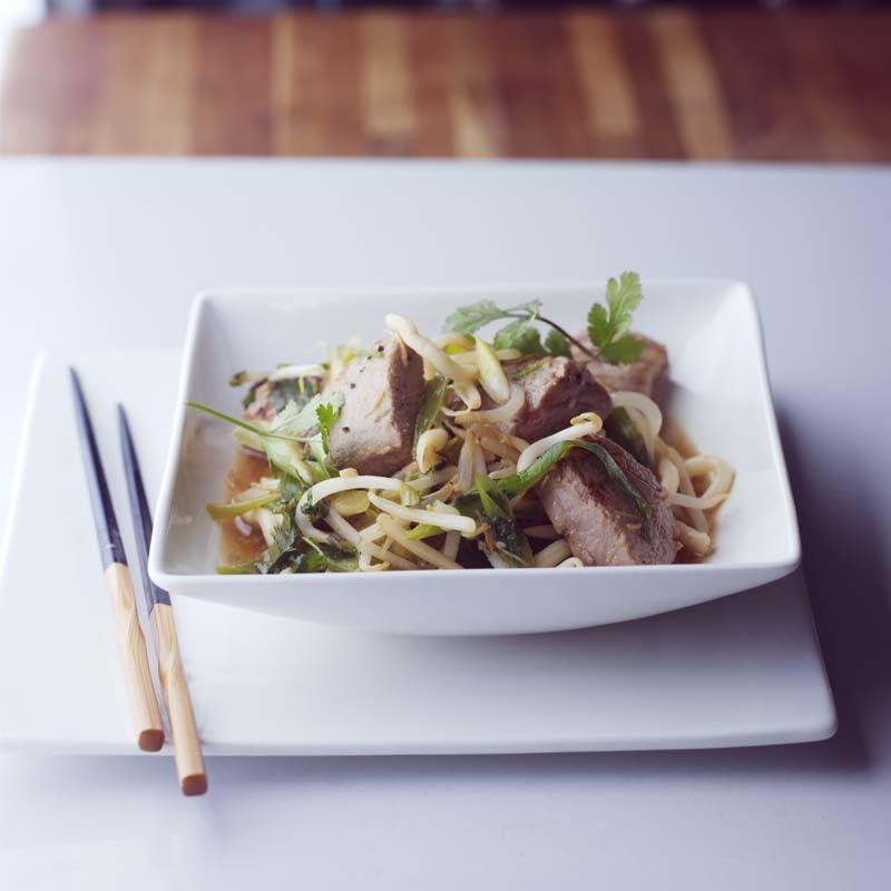 Photo of Fresh tuna teriyaki with udon noodles by WW
