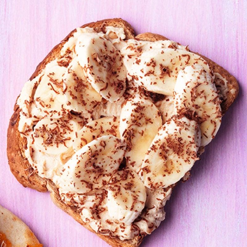 Photo of Peanut butter, banana & chocolate toast by WW