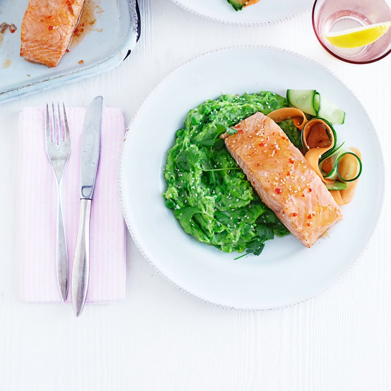 Photo of Sweet chilli salmon with Asian-style mash by WW