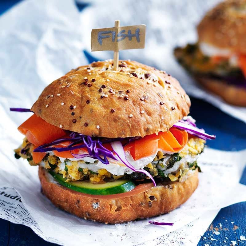 Photo of Crumbed fish burger with coconut mayonnaise by WW