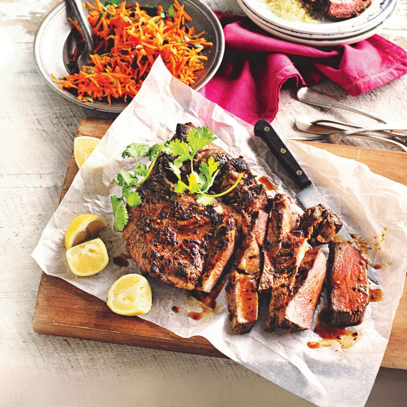 Photo of Barbecued butterflied lamb with carrot salad by WW