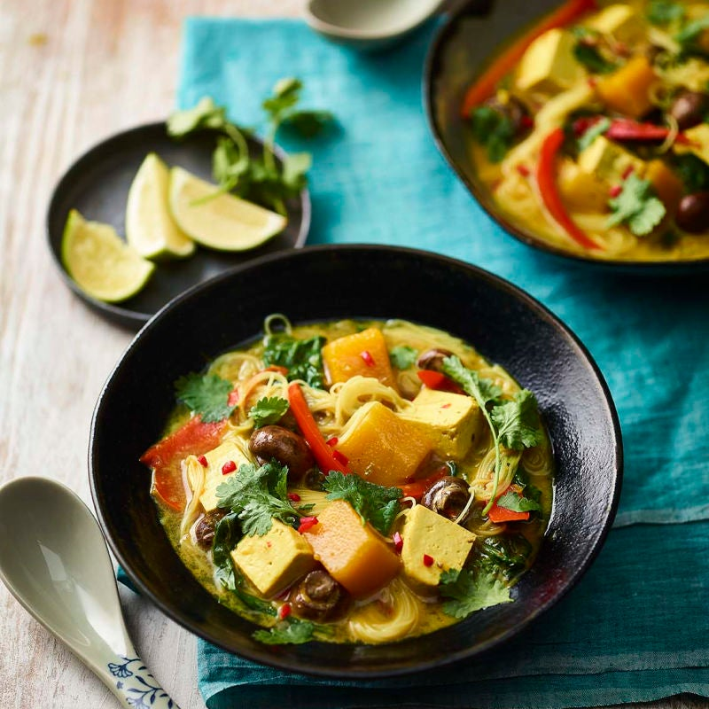 Photo of Golden tofu curry with rice noodles by WW